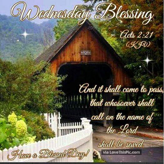 Wednesday Blessings Religious Bible Quote Pictures, Photos