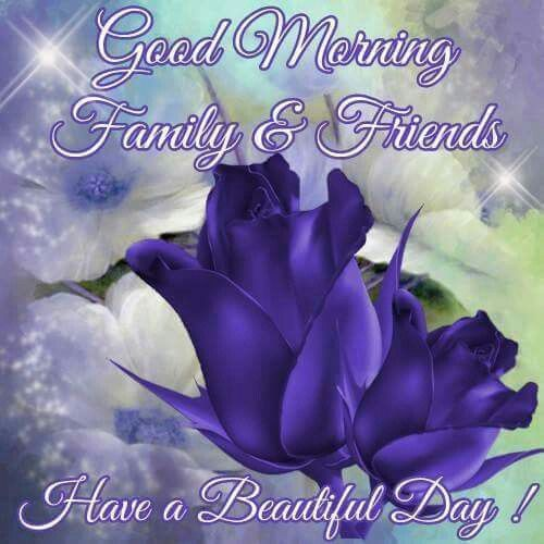 Good Morning My Beautiful Friend Quotes: Good Morning, Family & Friends Have A Beautiful Day