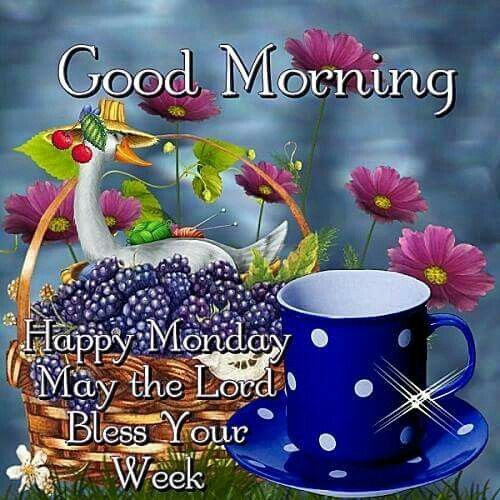 Good morning happy monday may the lord bless your week - Good morning monday images ...