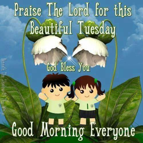 Good Morning Everyone Cute : Praise the lord for this beautiful tuesday god bless you