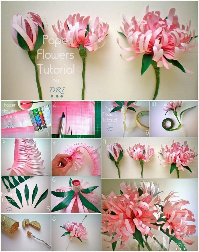 Бумажные цветы делаем своими руками