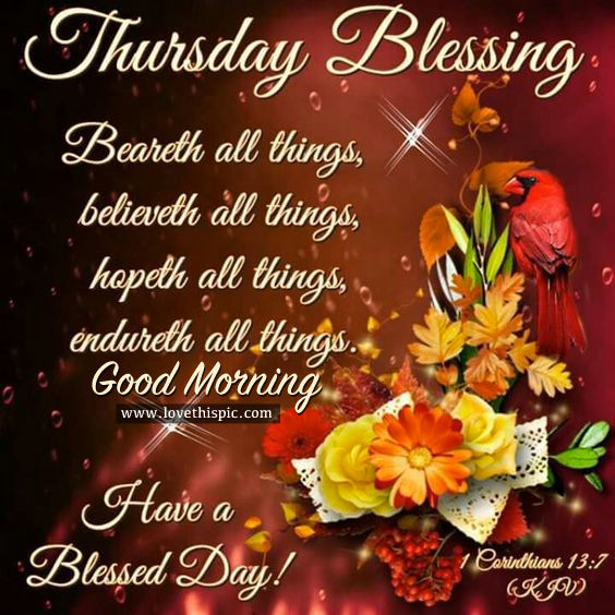 Thursday Blessing Pictures, Photos, and Images for