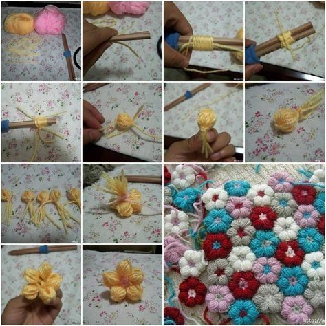 Diy Yarn Flowers Pictures Photos And Images For Facebook Tumblr
