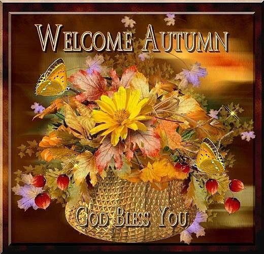 Welcome Autumn God Bless Pictures, Photos, And Images For