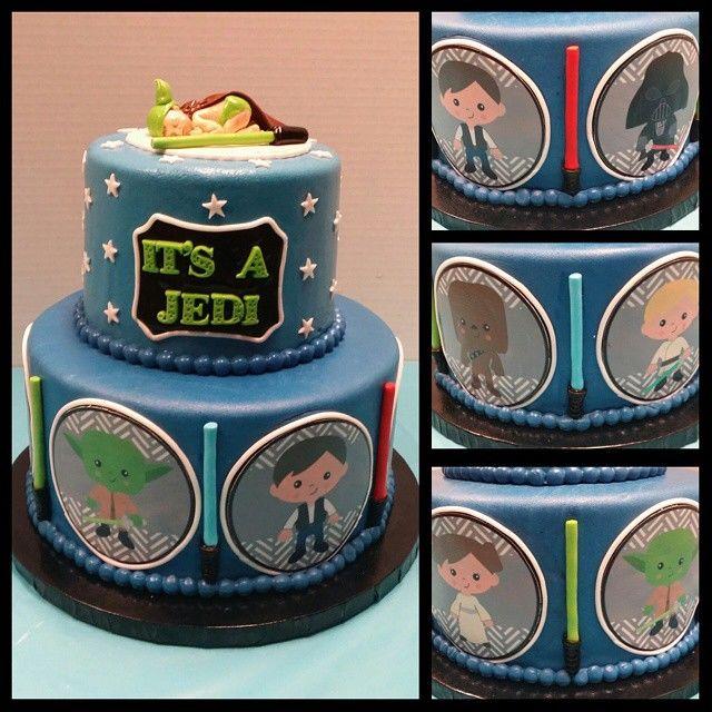 Star Wars Baby Shower Cake