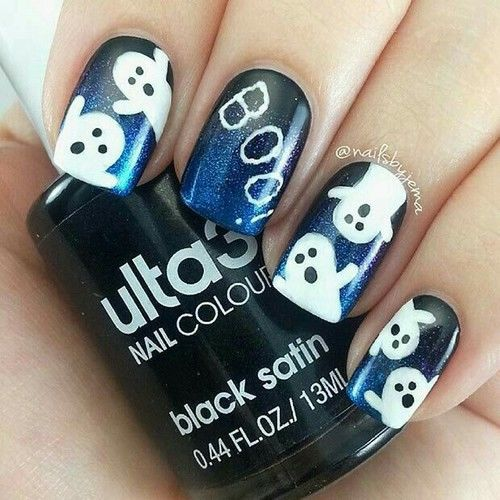 Ghost Nail Art - Ghost Nail Art Pictures, Photos, And Images For Facebook, Tumblr