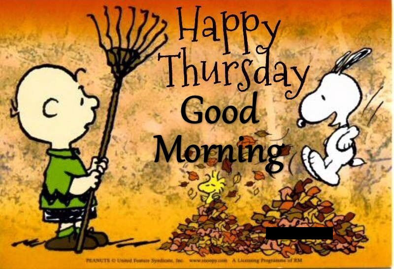 Snoopy Happy Thursday Good Morning Quote