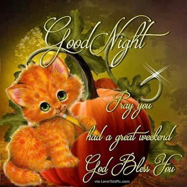 Goodnight I Pray You Had A Great Weekend Pictures, Photos ...