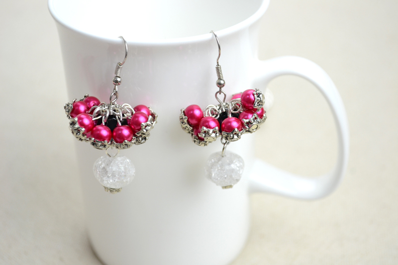 diy bridesmaid jewelry earrings out of pearls pictures