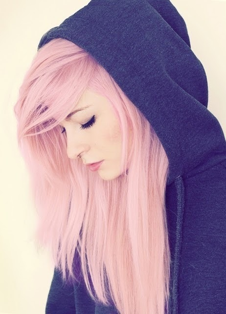 Girls With Light Purple Hair Tumblr Long Pink Hair ...
