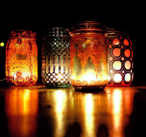 Mason Jar Wedding Ideas: Lit Candles Pictures, Photos, And Images For Facebook