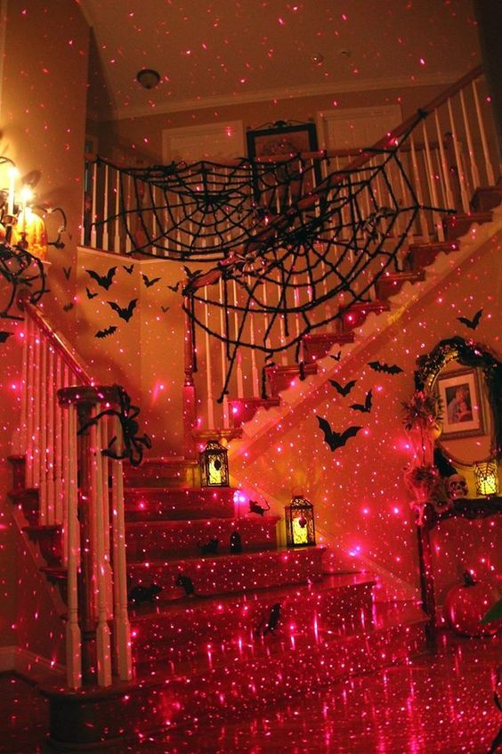 The 25 Best Stair Lighting Ideas On Pinterest: Staircase Decorated For Halloween Pictures, Photos, And