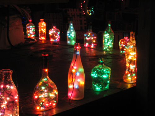 christmas bottle lights