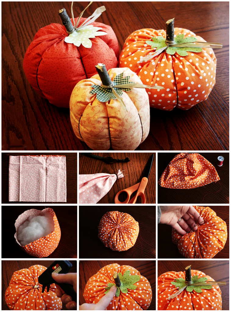 Cloth pumpkins