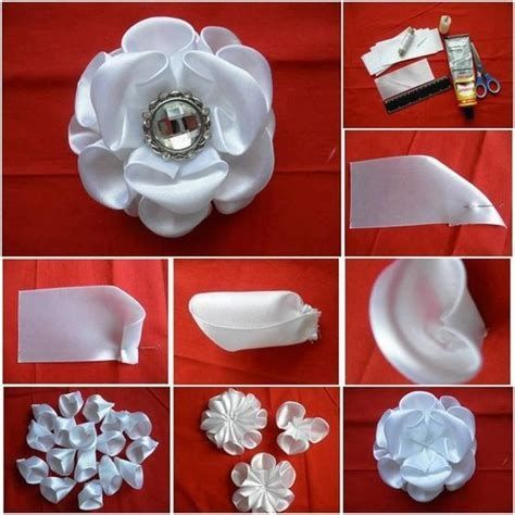Diy jeweled flower pictures photos and images for for How to make simple crafts at home
