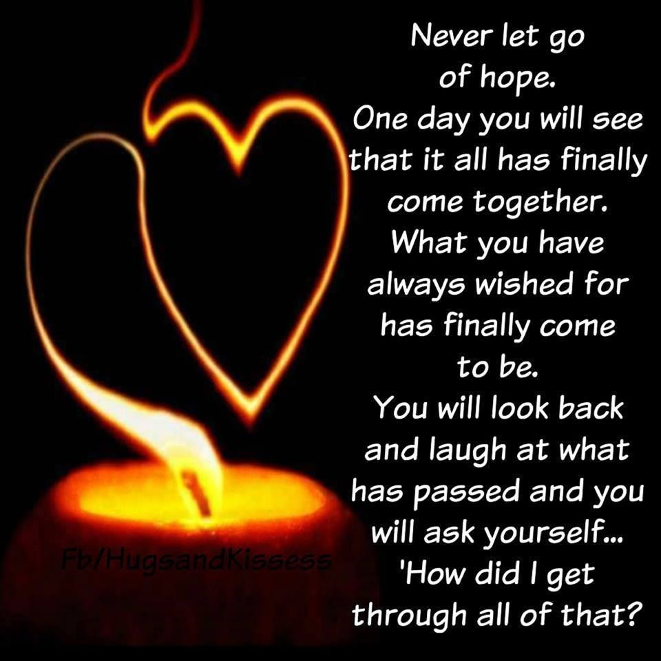 Never Let Go Love Quotes: Never Let Go Of Hope Pictures, Photos, And Images For