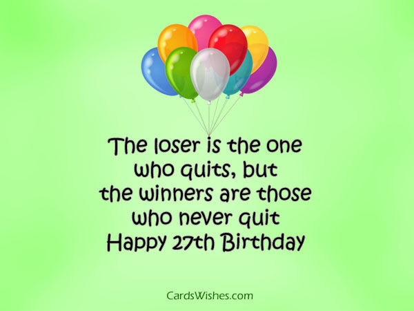 happy 27th birthday my winner pictures photos and images for facebook tumblr pinterest and