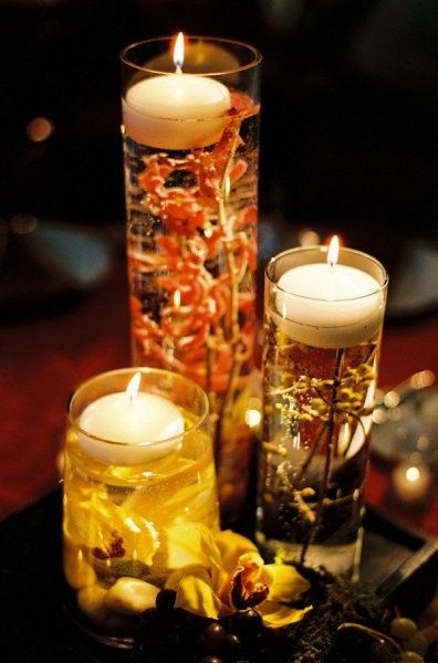 Autumn wedding candles pictures photos and images for