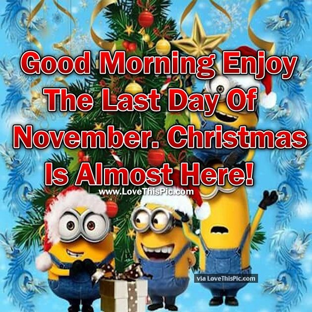 Last Saturday Of The Year Quotes: Good Morning Enjoy The Last Day Of November. Christmas Is