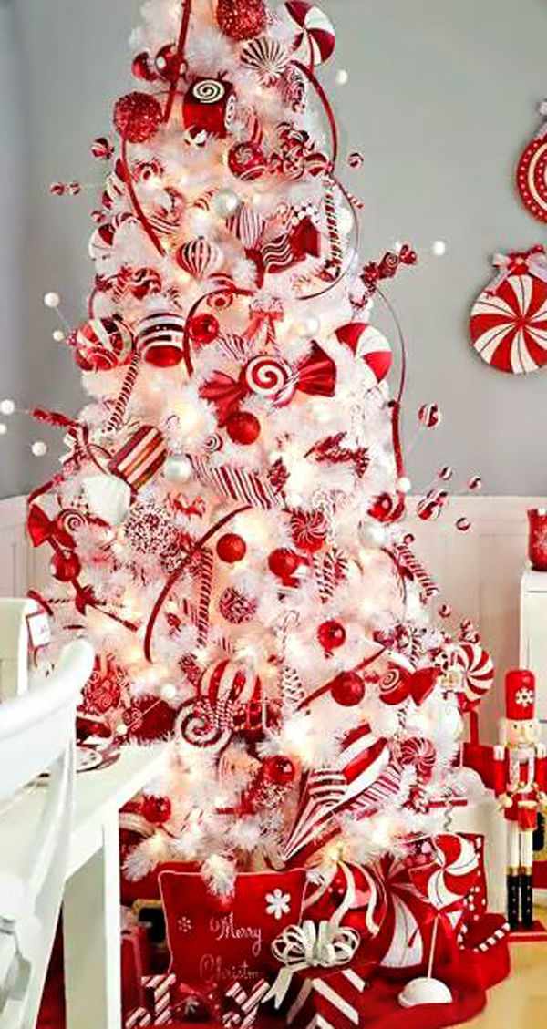 Red & White Peppermint Candy Christmas Tree Pictures ...