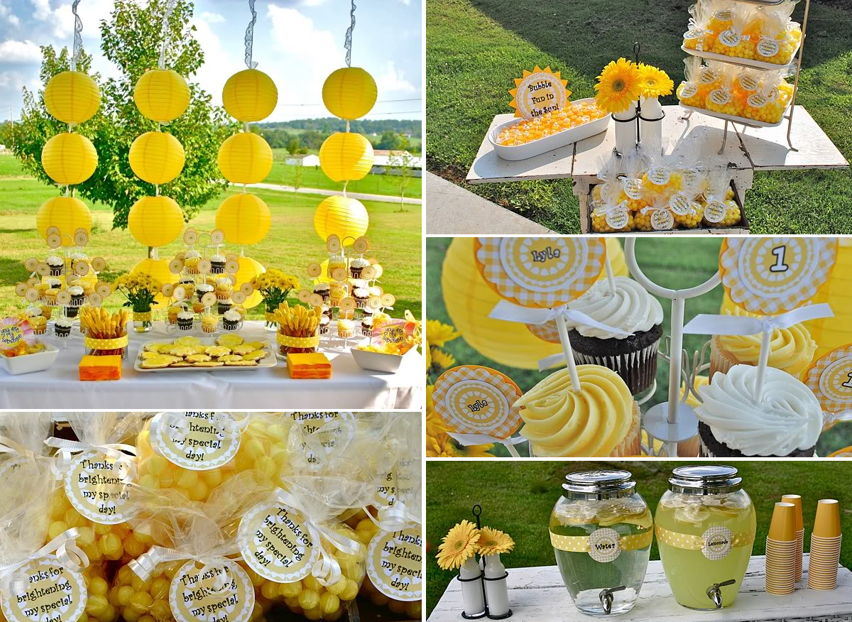 Sunflower party theme pictures photos and images for for Summer white party ideas
