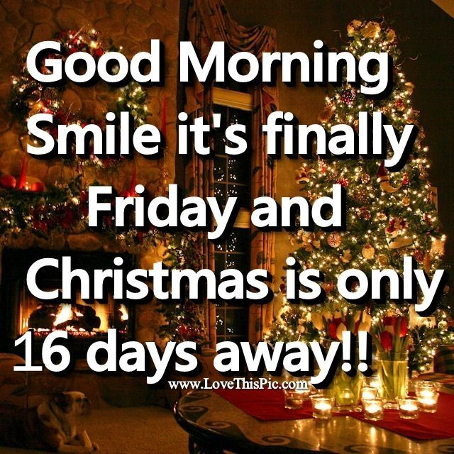 Friday Christmas Quotes: Good Morning Friday Christmas Is 16 Days Away Pictures