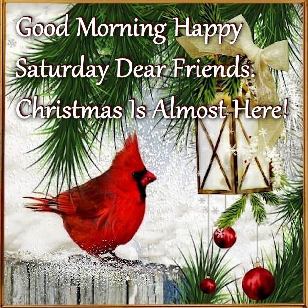 Christmas Is Almost Here Quotes.Good Morning Happy Saturday Christmas Is Almost Here
