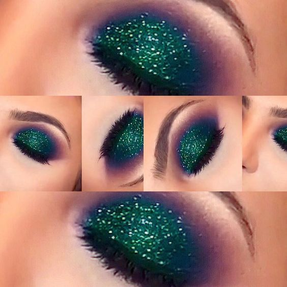 Green Glitter Eyeshadow Pictures