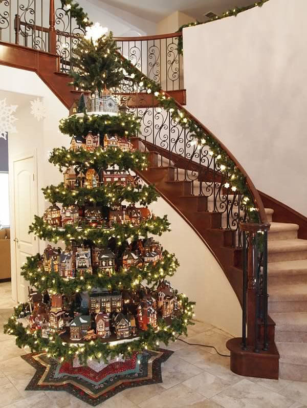 Christmas Tree Decorated With Xmas Village Houses Pictures, Photos, and Images for Facebook ...