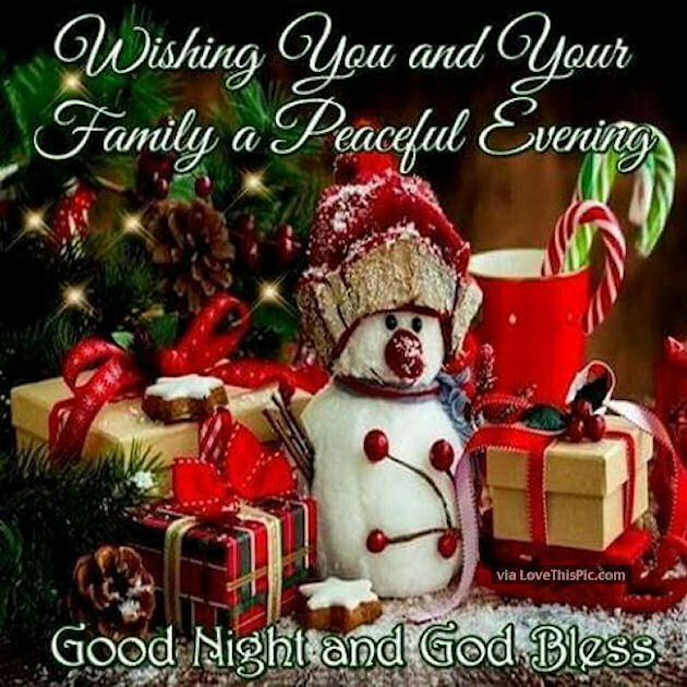 Wishing you and your family a peaceful evening christmas quote wishing you and your family a peaceful evening christmas quote m4hsunfo