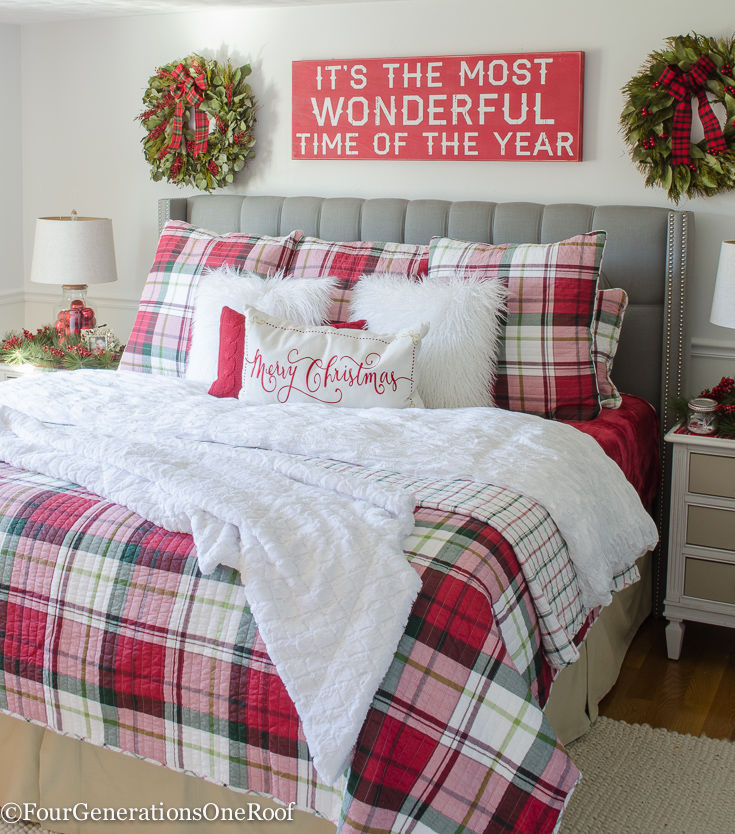 Plaid Christmas Bedroom Decor. Plaid Christmas Bedroom Decor Pictures  Photos  and Images for