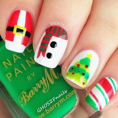 Christmas Themed Nail Art Pictures Photos And Images For Facebook