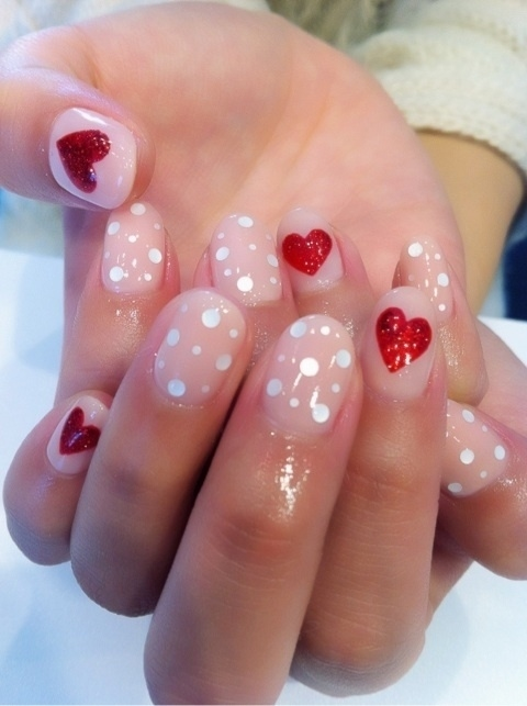 Polka Dots And Heart Nail Art Pictures, Photos, and Images for ...