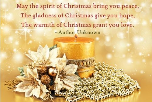 Christmas Bring You Peace. The Gladness