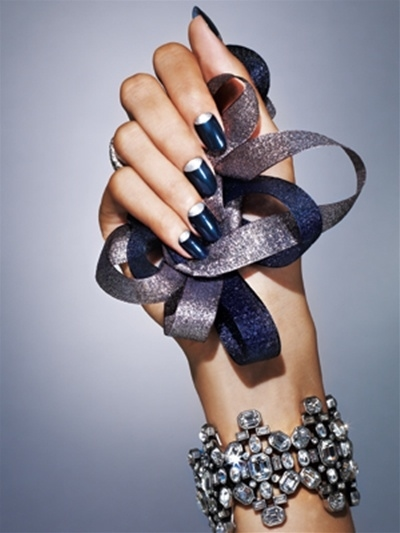 Dark Blue And Silver Nail Design Pictures Photos And Images For