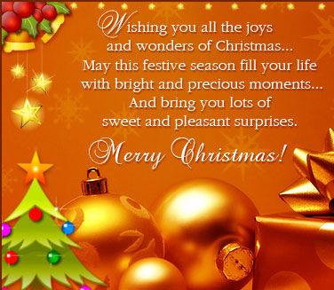 The Joys Of Christmas.Wishing You All The Joys And Wonders Of Christmas Merry