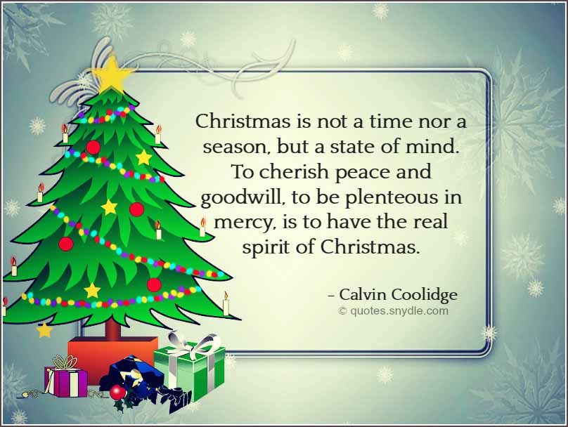 Holiday Season Quotes Inspirational Quotesgram: Christmas Is Not A Time Nor A Season, But A State Of Mind