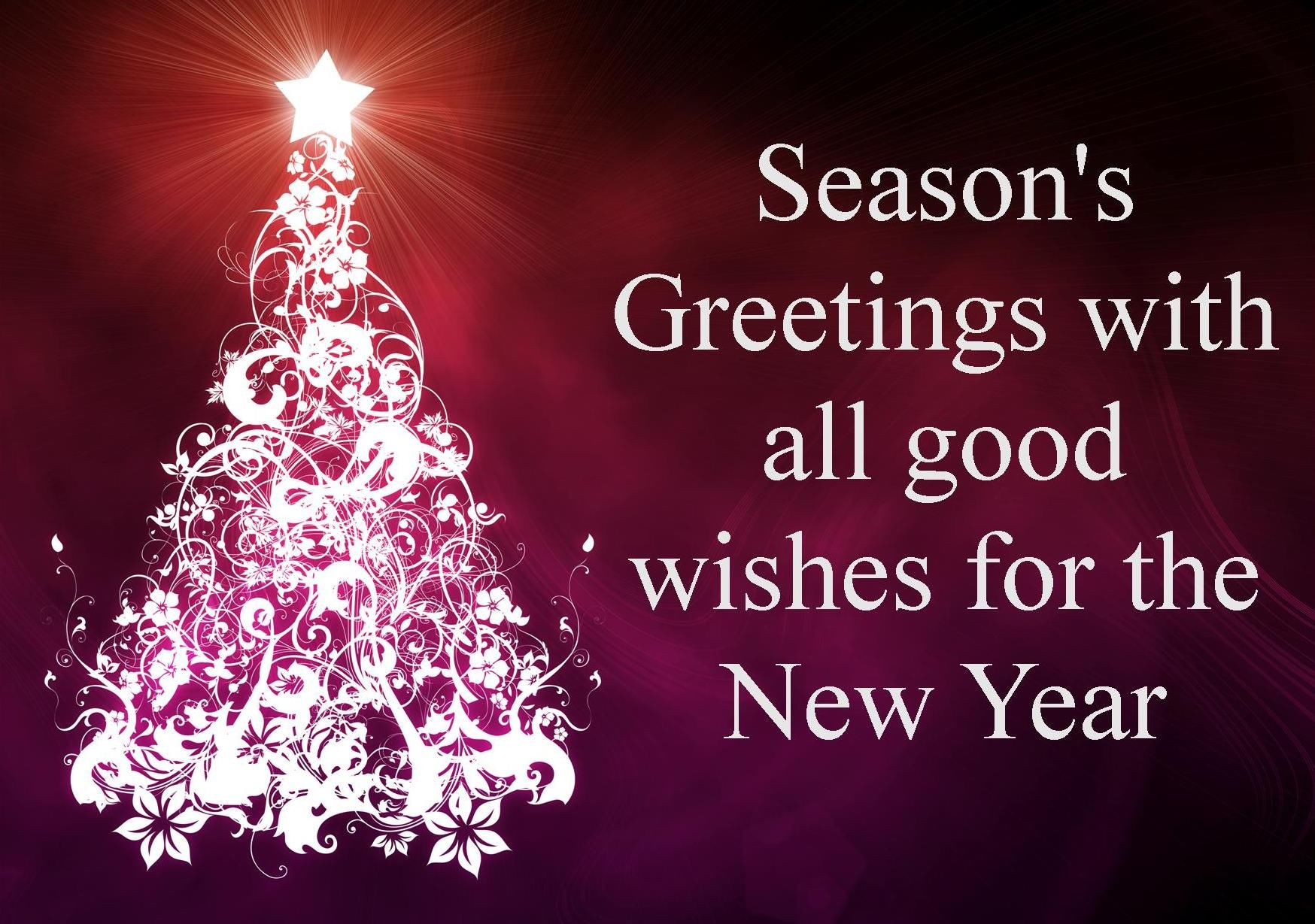 seasons greetings with all good wishes for the new year