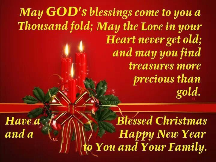 Blessed Christmas, Happy New Year To You And Your Family Pictures ...