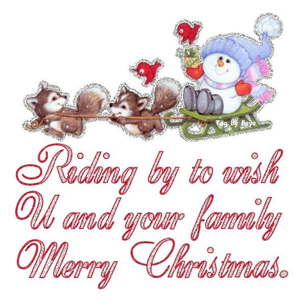 Animated Merry Christmas to You and Your Family