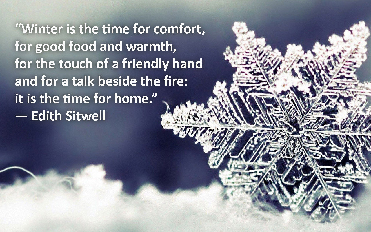 Quotes Winter Winter Is The Time For Comfort Pictures Photos And Images For