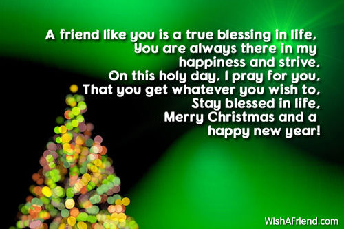 A Friend Like You Is A True Blessing In Life....Merry