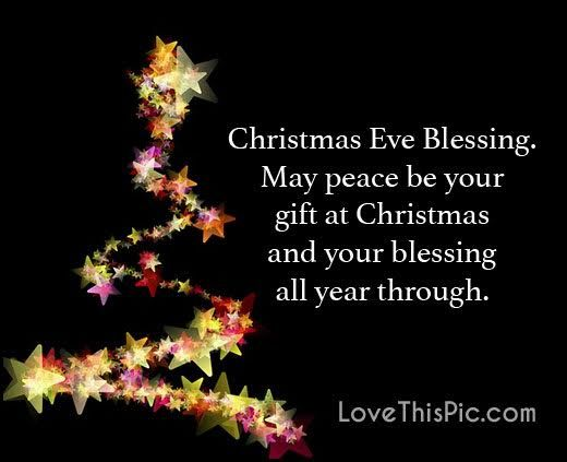 Christmas Blessing Quotes Extraordinary Christmas Eve Blessings Quote Pictures Photos And Images For