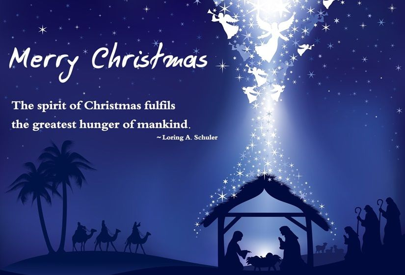 15 Christmas Quotes Religious: Merry Christmas, The Spirit Of Christmas Fulfills The