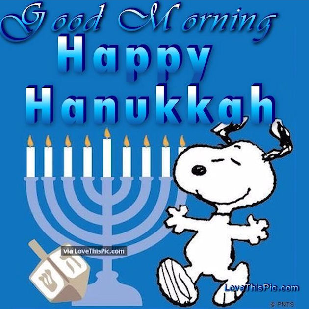 Snoopy Good Morning Happy Hanukkah Pictures Photos And Images For