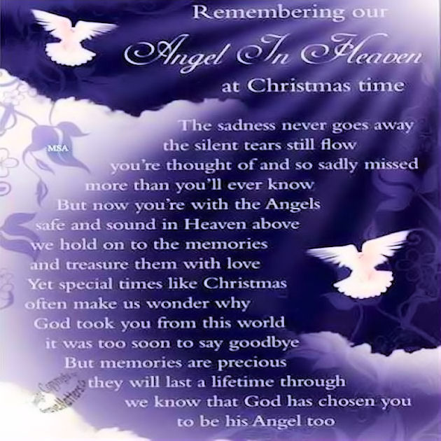 Christmas Quotes Loss Loved One: Remembering Our Angel In Heaven Pictures, Photos, And
