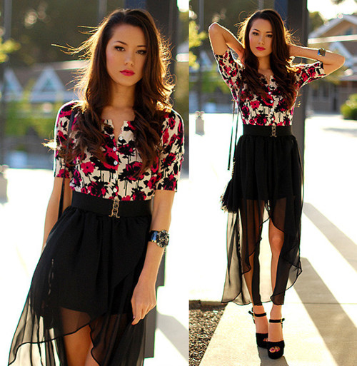 black sheer high low skirt pictures photos and images