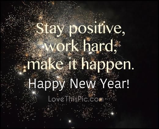 stay positive happy new year