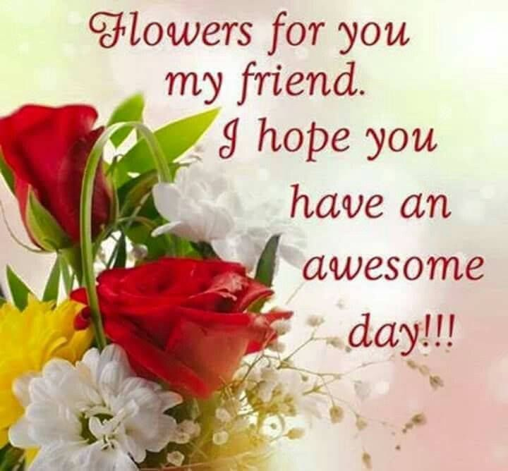 Image result for Flowers for you my friend