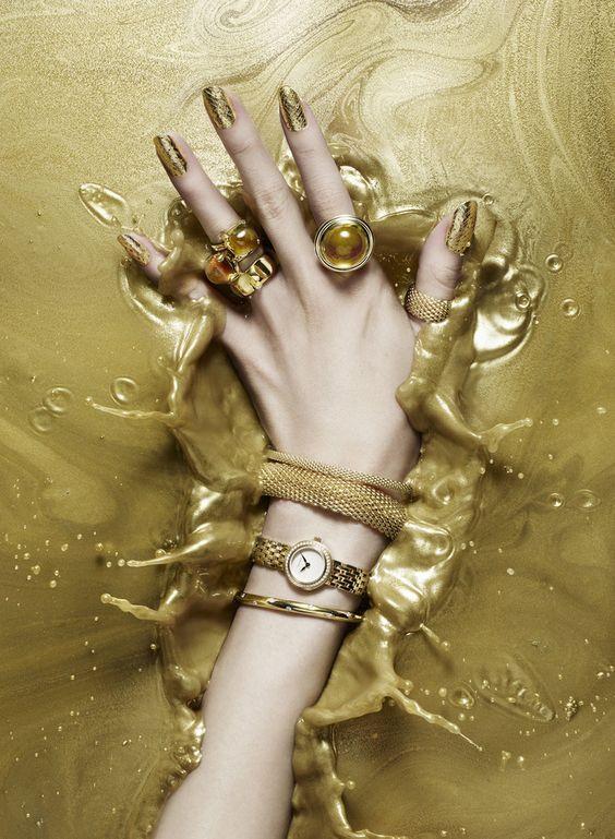 Gold Nail Art Jewelry
